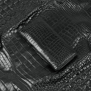 Image 5 - One piece Genuine Crocodile Belly Skin Businessmen Suits Clutch Wallet Authentic Alligator Leather Lining Male Long Card Purse