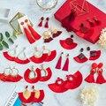 Женские богемные серьги-подвески Bicux, большие висячие серьги из хлопка и шелка, свадебные украшения красного цвета, 2020