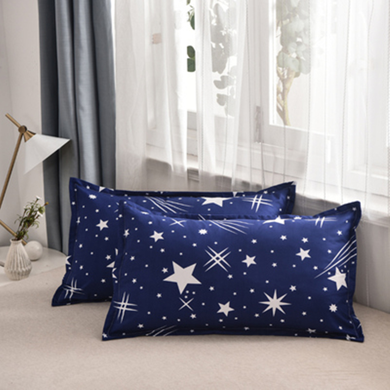 1 Piece 48*74cm Rectangle Cotton Throw Pillow Case Super Soft Pillowcases Washable Home Bed Adornment Solid Pillowcase 301-0822