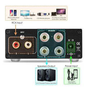 Image 5 - Douk audio 200 watów Mini HiFi TPA3116D2 cyfrowy wzmacniacz mocy dwukanałowa muzyka stereo domowe audio Amp