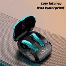 Tws bluetooth 5.0 fones de ouvido estéreo 9d modo jogo de alta fidelidade esportes à prova dwireless água sem fio com microfone para telefones celulares
