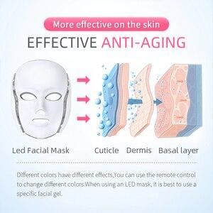 Image 4 - Mascarilla Facial con luz LED, 7 colores, rejuvenecimiento de la piel, tratamiento cuidado Facial, terapia antiacné, blanqueamiento