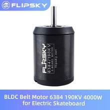 Flipsky BLDC Belt Motor 6384 190KV 4000W for Electric Skateboard Blushless DC Motor for Electric Bike