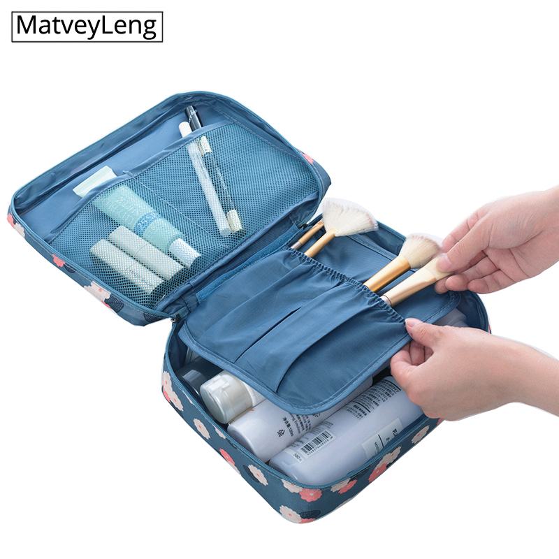 High Quality Women's Cosmetic Bag Portable Multi-function Cosmetics Storage Bag Travel Toiletries Waterproof Organizer Package