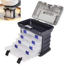 Fishing Tackle case 27 x 17 x 26cm 5 Layers Portable Carp Fishing Tackle Boxes Fishing Reel Line Lure Tool Storage Box цена и фото