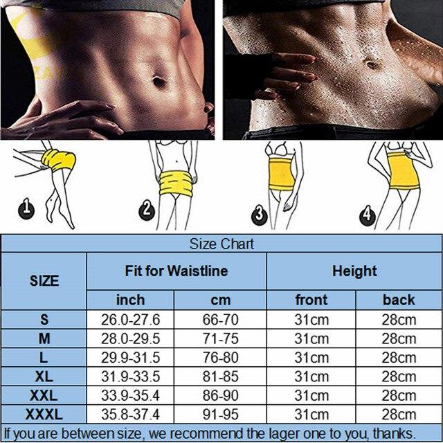 LAZAWG Women Waist Trainer Hot Neoprene Gym Workout Belt Sauna Sweat Girdle Body Shaper Tummy Control Fat Burn Corset Cincher 5