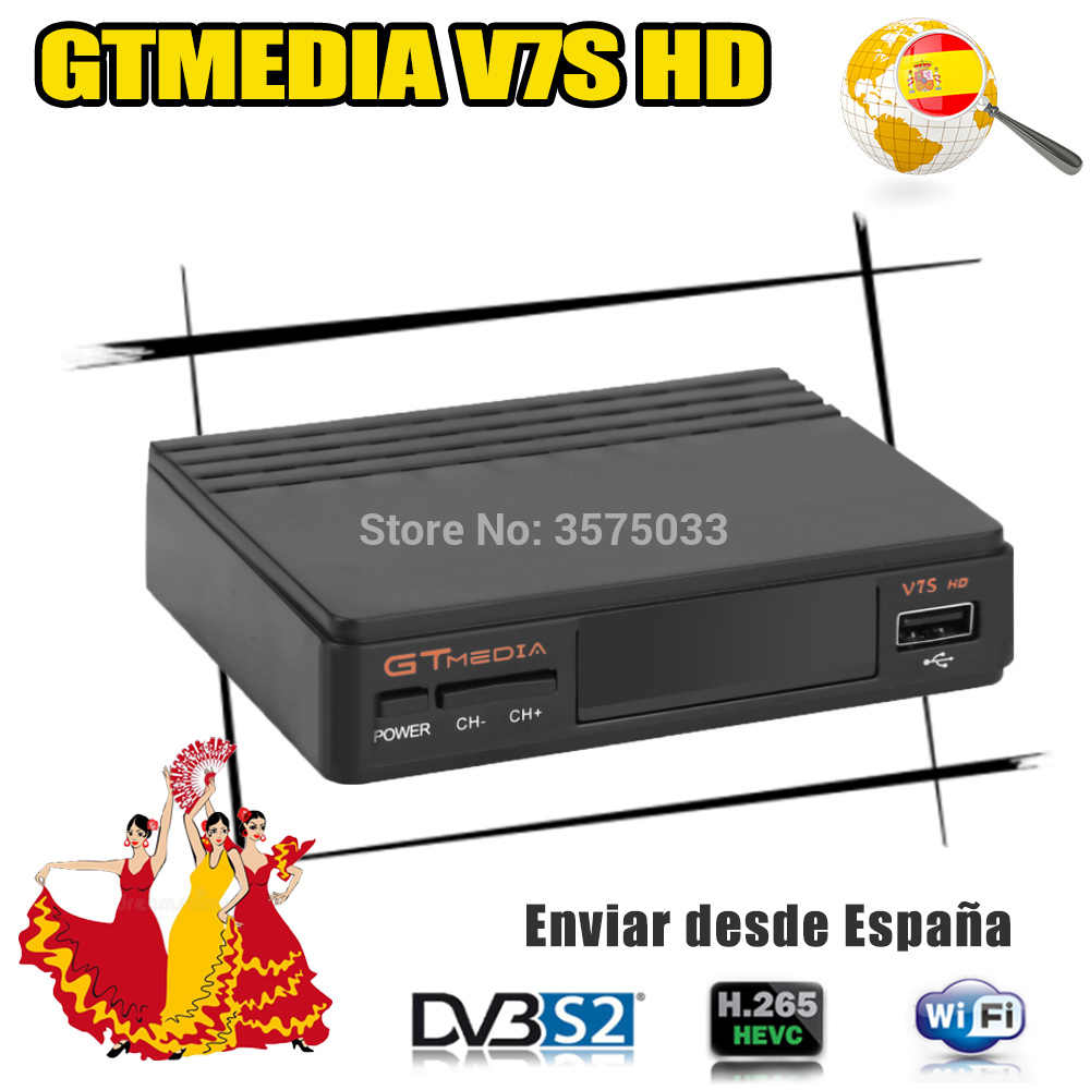 Best Gtmedia V7S HD H.265 1080P GT media V7S HD includono USB Wifi DVB-S2 potenza da freesat v7 no app