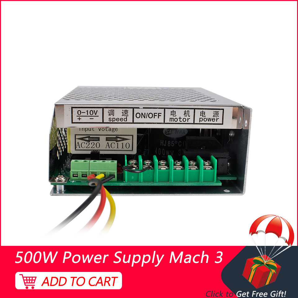 New Spindle Power Supply 220V <font><b>110V</b></font> With Speed <font><b>Control</b></font> Mach3 CNC Adjustable Switching Power Supply For Spindle <font><b>Motor</b></font> 500W image