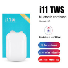Asli I11 TWS Mini Nirkabel Bluetooth Headset untuk Apple Android Xiaomi Huawei Samsung PK I7S I9 V8 I12 I14 I18 i30X PRO MAX(China)