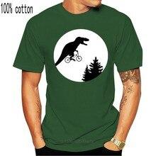 T-shirt col rond pour hommes, 100% coton, imprimé humoristique, t-rex, Moon ET Alien, toutes les tailles