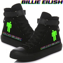 Billie Eilish Printed Canvas Shoes Cozy Sneakers For Women A