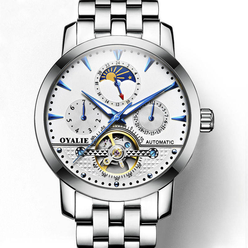 Men Mechanical Watch Fashion Men Stainless steel Automatic Watch Sport Business Wristwatch Relogio Masculino