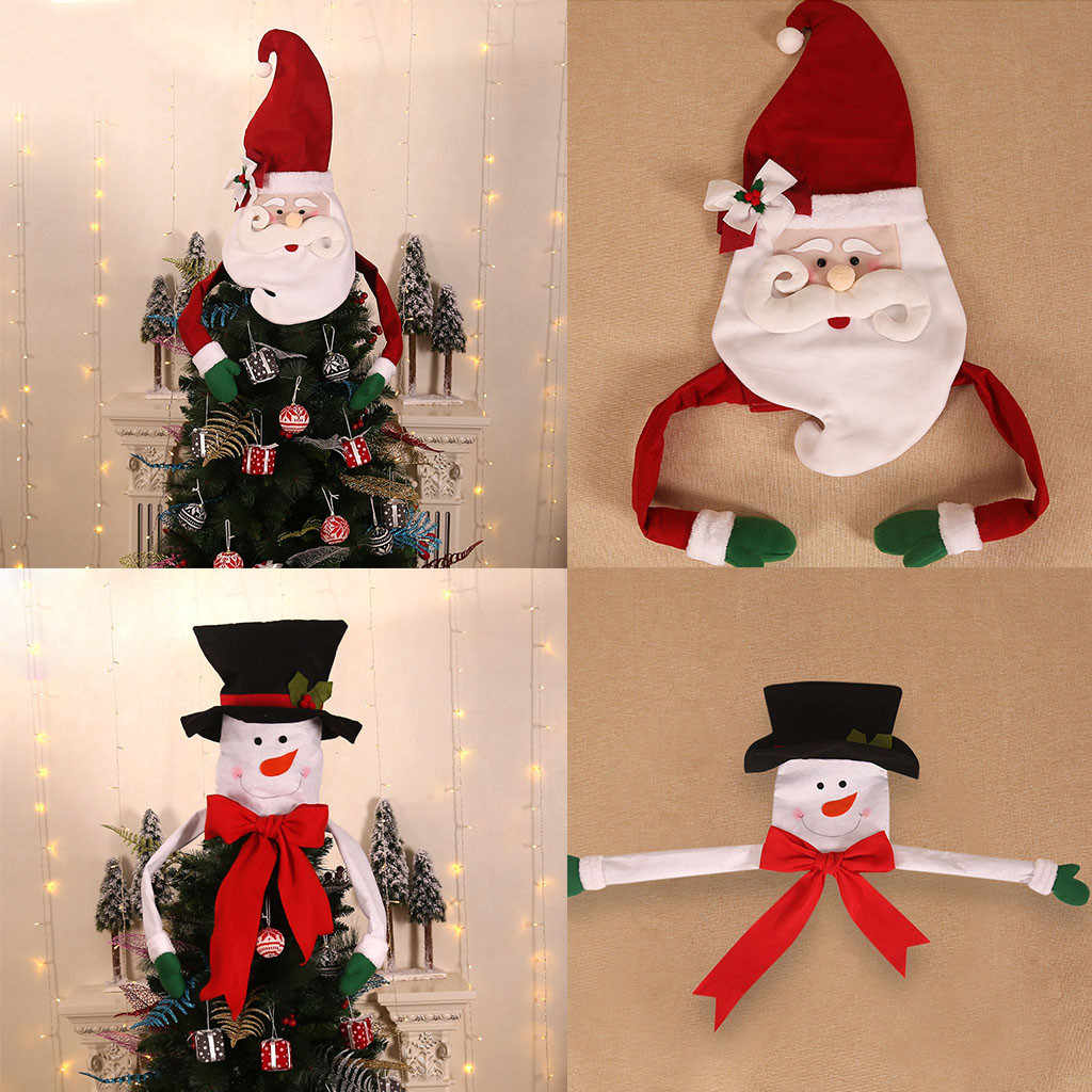 2020 New Merry Christmas สินค้าต้นไม้ Santa Snowman หมวกเครื่องประดับตกแต่งปีใหม่สำหรับ Home บรรยากาศ Navidad F919