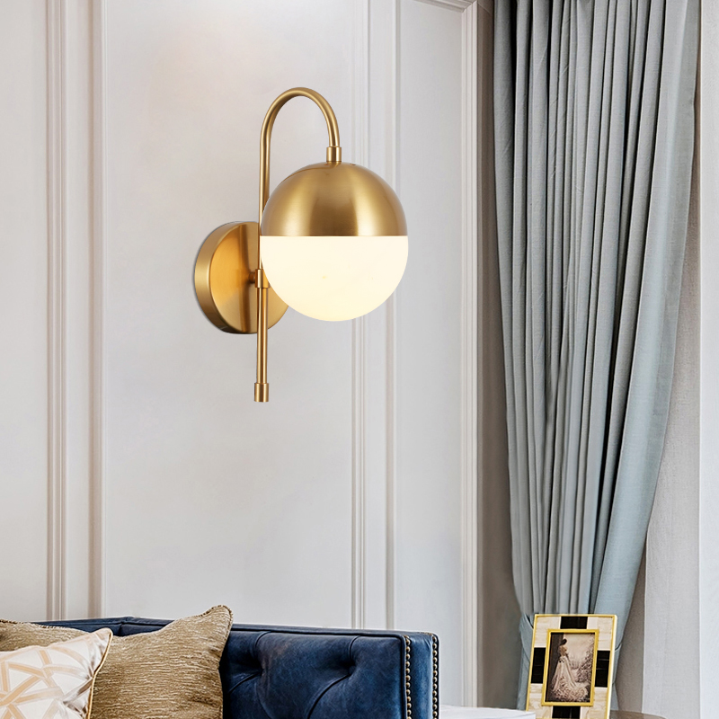 Bronze Wall Light Brass Wall Sconce Globe Ball Wall Lights For Corridor Living Room Bedroom Stairs Led Light Art Deco Sconces Led Indoor Wall Lamps Aliexpress
