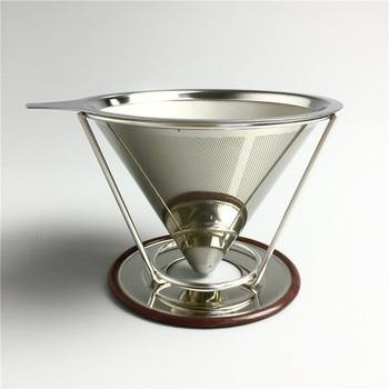 Reusable Coffee Filter Holder Stainless Steel Brew Drip Coffee Filters Funnel Metal Mesh Coffee Tea Filter Basket Tools 6