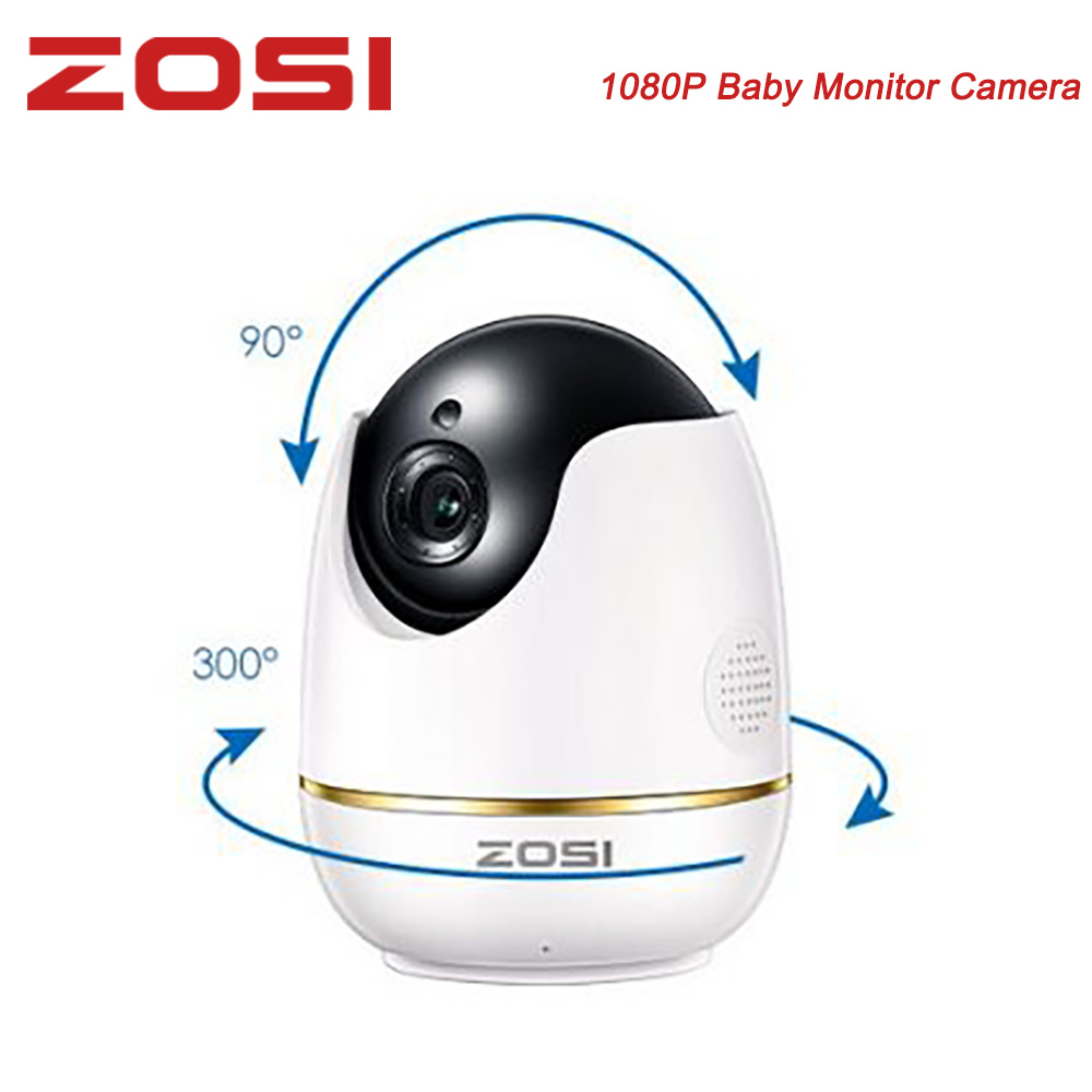 ZOSI Wifi IP Camera 1080p Wireless Mini CCTV Security Camera Baby Monitor Security PTZ Micro SD Card Camera Smart Remote Control
