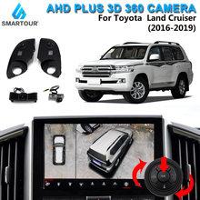 Caméra de voiture 3D 360 P, vue panoramique, rétroviseur latéral, 1080 degrés, système DVR, pour Toyota Prado Land Cruiser