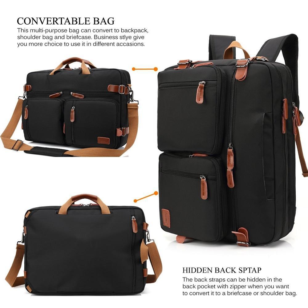 Multi use Design Laptop Bag For Macbook Air Pro Case 15.6, 17,17.3 Laptop Backpack/Messenger Backpack Men Business Bag-in Laptop Bags & Cases from Computer & Office    2
