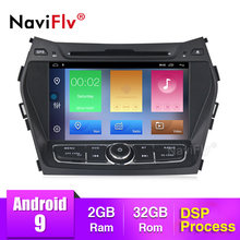 NaviFly Android 9.0 Auto Multimedia Dvd-speler Voor Hyundai IX45 Santa fe GPS Navigatie Auto Radio Head Unit Canbus AM FM RDS DSP(China)