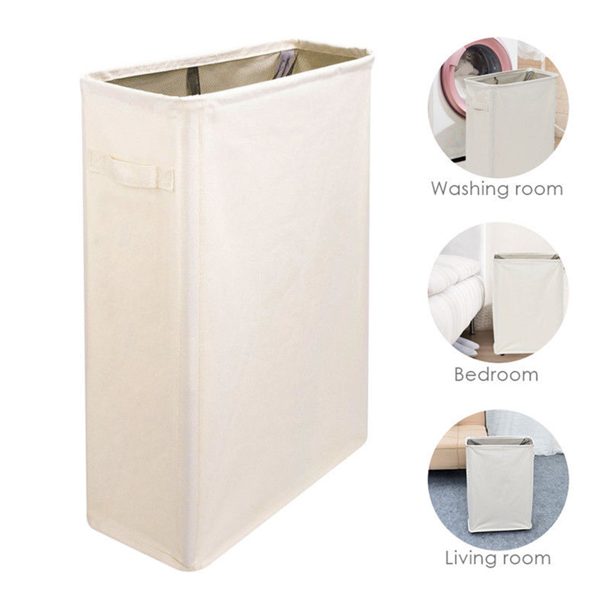 Foldable Storage Laundry Basket With Wheels Waterproof Large Storage Basket Bathroom Dirty Clothing Fabric Collapsible Hamper