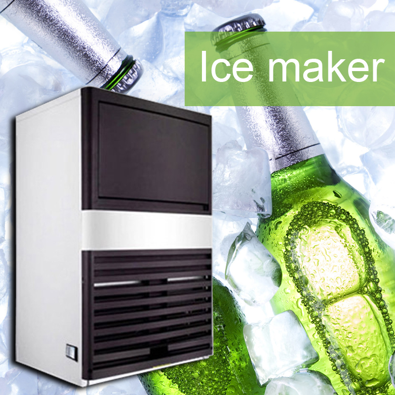 220V Multifunction Fully Automatic Ice Maker Commercial Cafe Tea Shop Square Ice Machine Household Small Mini Ice Maker 350W