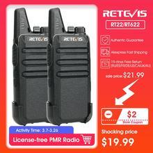Walkie Talkie 2pcs RETEVIS RT22/RT622 PMR PMR446 FRS VOX UHF USB Charg