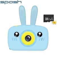 SPASH-cámara para niños de 1200W, cámara digital HD de píxeles, Mini cámara de dibujos animados, juguetes para niños, regalo de cumpleaños, tarjeta TF de 32 GB