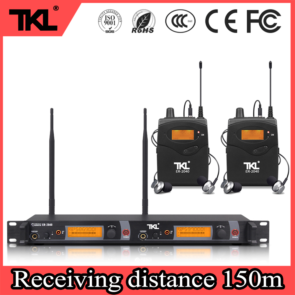TKL ER-2040 dual-kanal professionelle stereo in-ear monitoring UHF bühne digital wireless monitoring system
