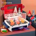 Kinder BBQ Grill Küche Spielzeug Mini Elektrische Grill Spiel Simulation Lebensmittel Set Musik Licht Pretend Spielen Spielzeug Für Kinder