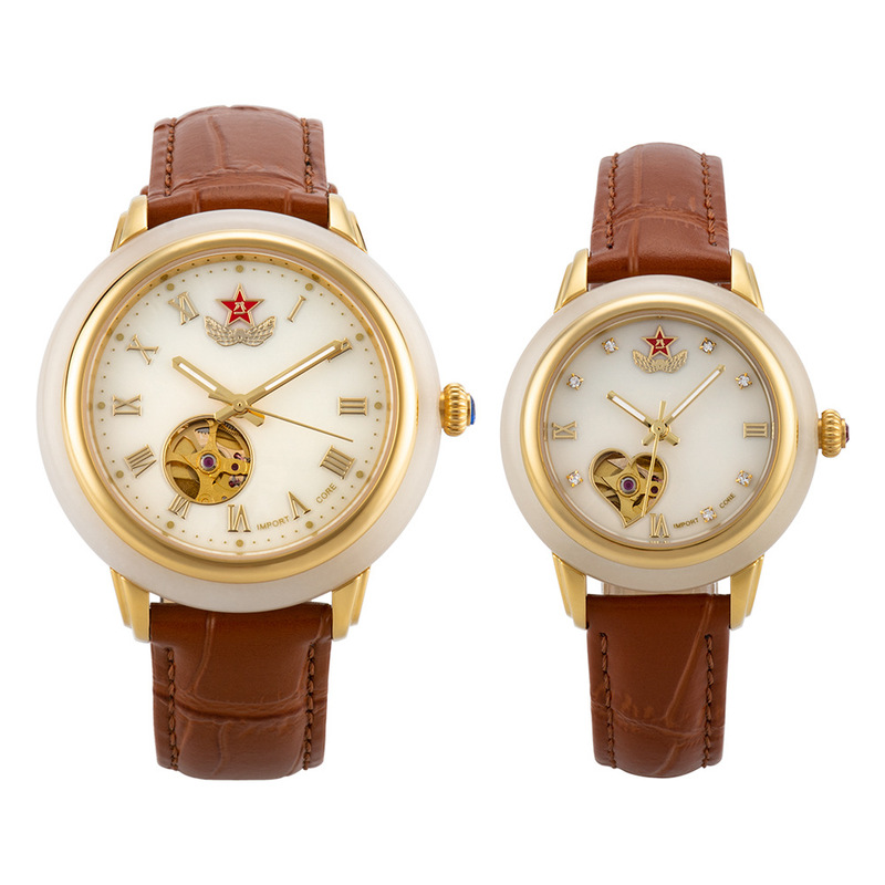 2020 Direct Selling Hot Sale Custom-made Wholesale Hetian Jade Mechanical Watches Automatic Couple Table A Undertakes
