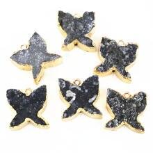 6 шт подвески бабочки для женщин и мужчин из натурального серого
