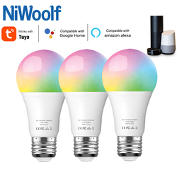 2021 Tuya Lamp Smart WiFi Bulb E27 Color Changing 7.5W Compatible With Alexa Google Home Tuya APP Timer Dimmer For AC 100-240V