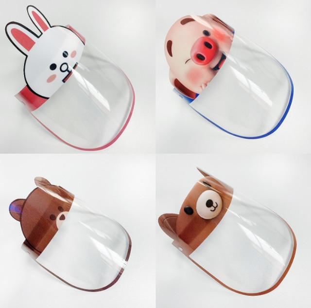 40pcs Children Kids Safety Virus Protective Face Shield Screen Mask Anti Spittle Anti Saliva Anti-Splash Anti Virus Face Mask 2