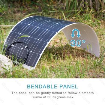 Dokio Flexible Solar Panel 100W Monocrystalline Solar Cell 200w 400w 600w 800W 1000W Solar Panel Kit For RV/Boat/Home system 3