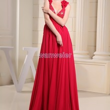 free shipping 2018 new arrival hot sale beading v-neck custommade color strap plus size long gowns r
