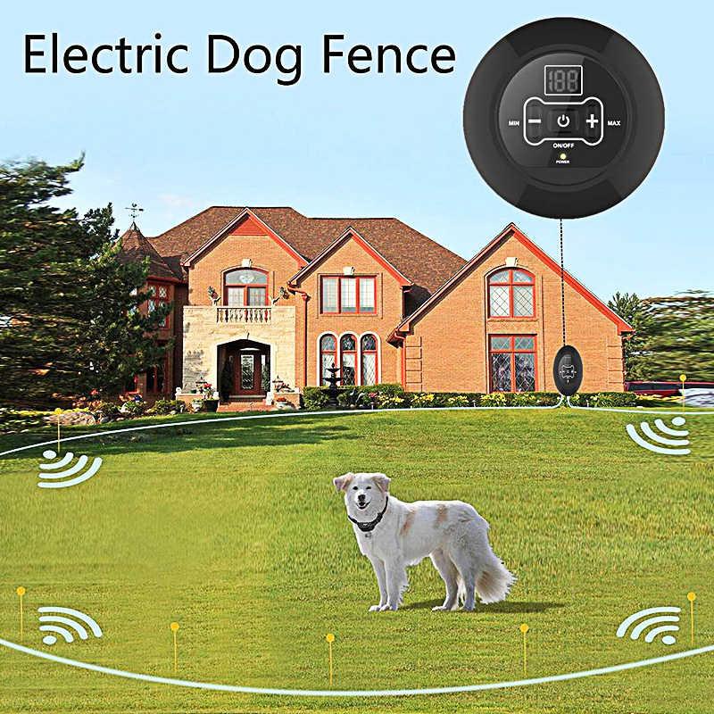 Pet Dog беспроводной электрический забор система удержания собаки тренировочный ошейник Вибрационный шок беспроводной передатчик сигнала расстояние 500 м