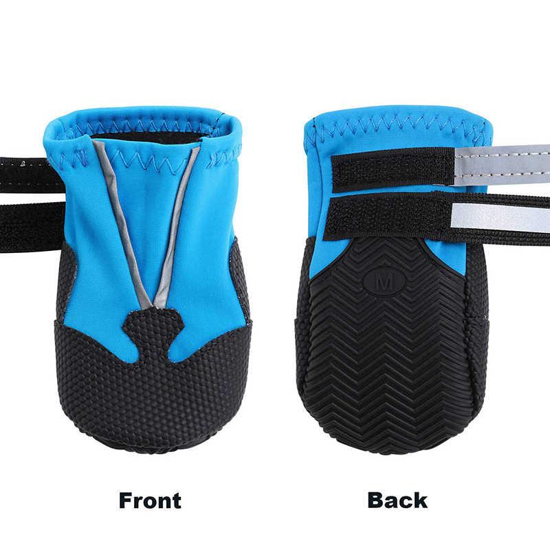 Benepaw Mode Winter Hond Laarzen Duurzaam Comfortabele Zachte Reflecterende Waterdichte Schoenen Hond Antislip Rubberen Zool Voor Sneeuw