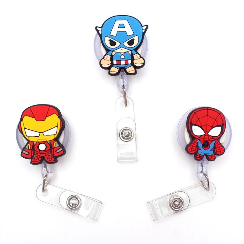 The Small Size Cartoon Spider Retractable Creative Card Holder Badge Reel Nurse Exhibition Enfermera Girl Name Card Chest Boy