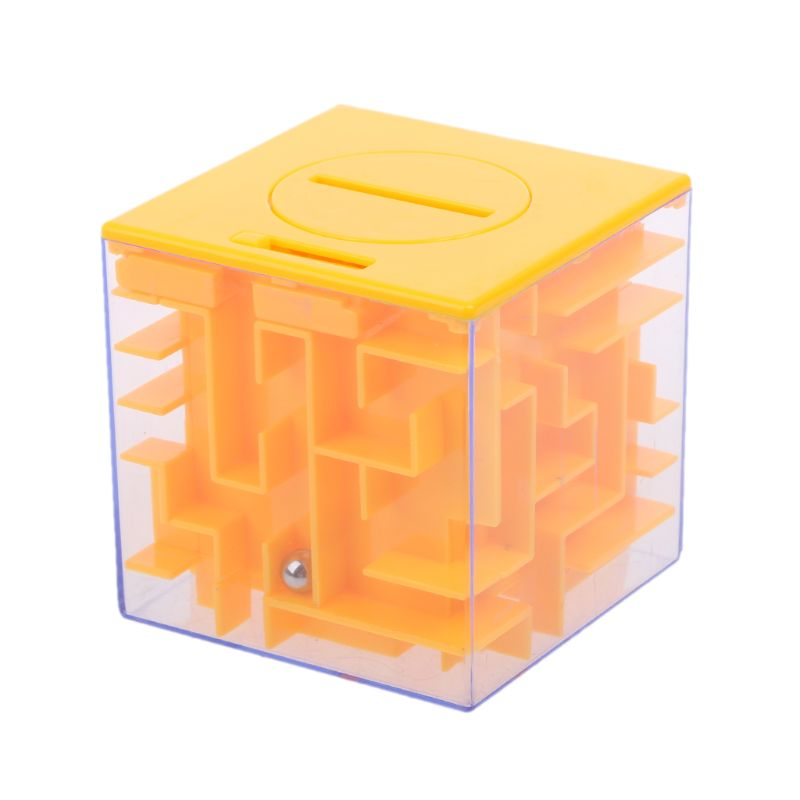 1PC Novelty 3D Money Maze Bank Cube Puzzle Saving Coin Collection Case Box Brain Game Kids Toy Gift