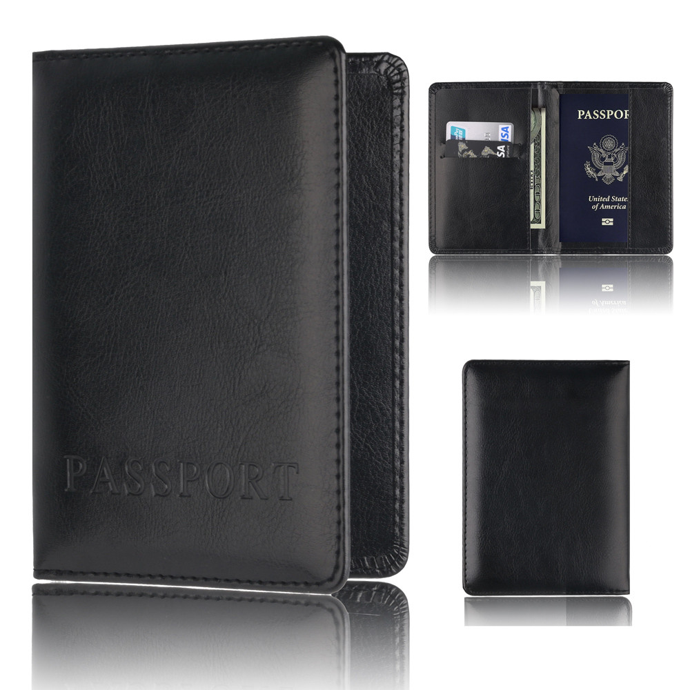 Candy Color Passport Wallet Multi-purpose Anti-Theft Multi-functional RFID Blocking Passport Holder