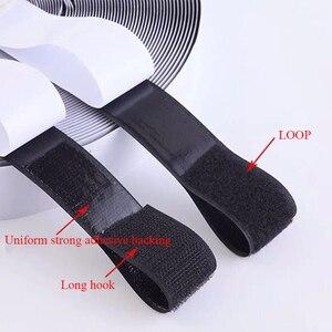 1 metr haczyk samoprzylepny i taśma na rzep velcros samoprzylepna naklejka velcros nylon z gue taśma z tkaniny do szycia