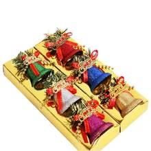6 шт цветные пластиковые колокольчики Рождественские елки аксессуары