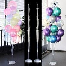 Decoración de globos para boda soporte para globos soporte columna Stick Baloon adultos cumpleaños fiesta decoraciones niños globos Baby Shower