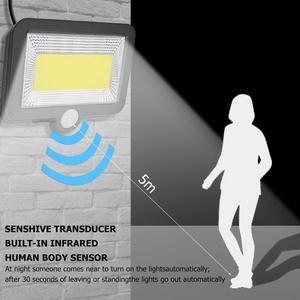 Image 4 - Lumière Solaire 100 LED rue Solaire applique murale étanche jardin lumières Projecteur Solaire PIR BodyMotion capteur Solaire Projecteur