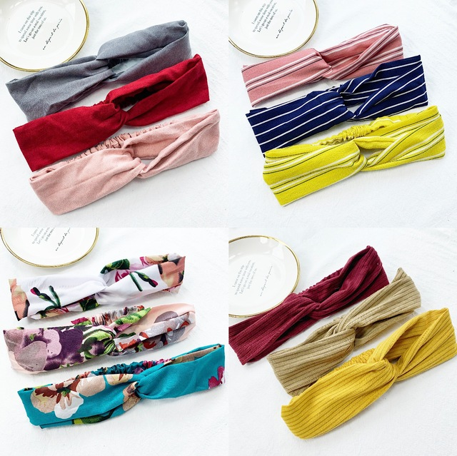 Multiple styles fashion hot Sale  simple wild fashion lady hair Cloth Bow knot Headband Hair Ties Rope girl Hair Accessories