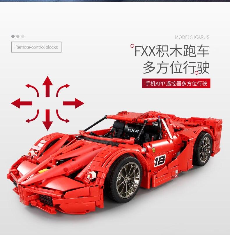 MOULD KING MOC 13085 Compatible 5889 Ferrari FXX F40 Enzo Building Block (2172 PCS) 13