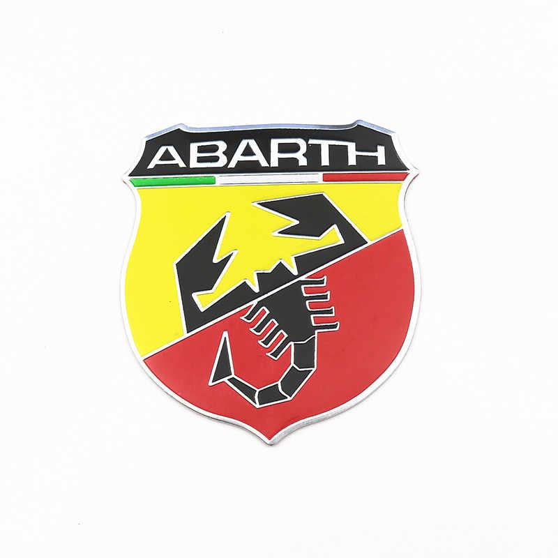 1-4 個の車のスタイリング abarth 3D エンブレムバッジ 3 メートルアルミ創造的なステッカーイタリアフィアット abarth viaggio punto 124 125 500 ステッカー