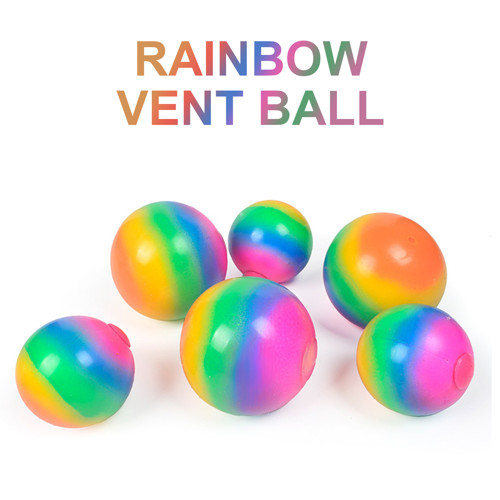 Balls Venting-Ball Relief-Toys Fidget-Sensory-Toys Rainbow Antistress Anxiety Stress-Pressure img4