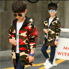 Boys waterproof windproof jackets children clothes camouflage