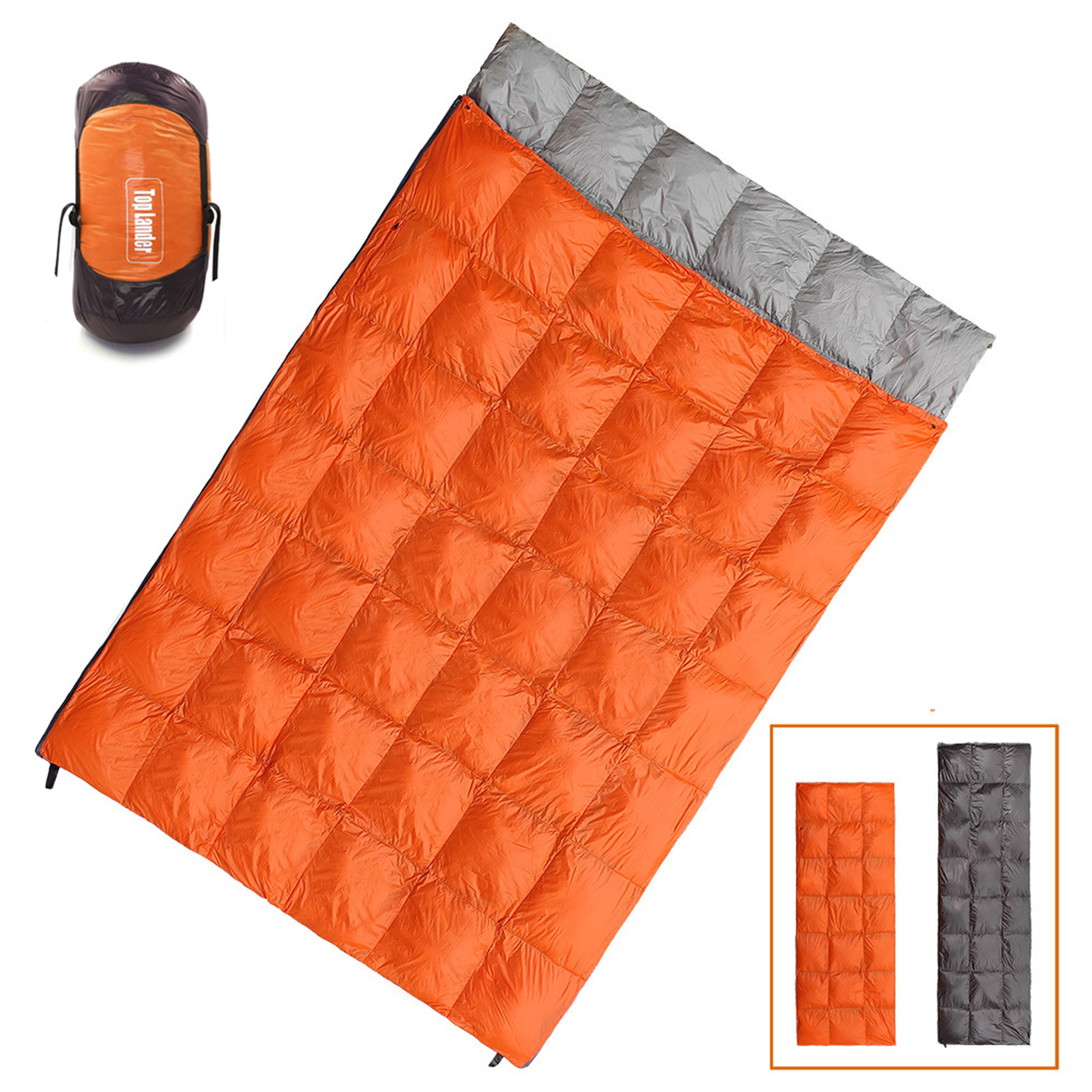 Rapture Winter Sleeping Bag Double Duck Down Ultralight Warm Compact Envelope Waterproof Sleeping Bag 2 Person Adults Indoor Outdoor Use